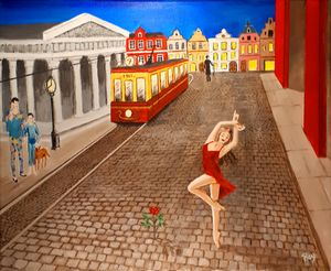 The Rose inspirate by Paul Delvaux