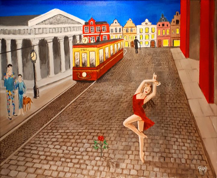 The Rose inspirate by Paul Delvaux - Bujeque Pedro REY