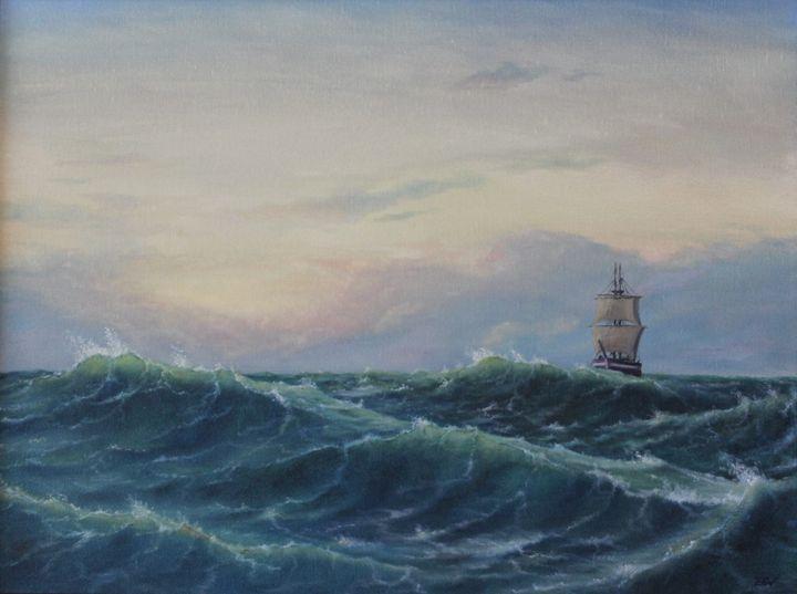 ''Through the waves''. - Zigmars Grundmanis