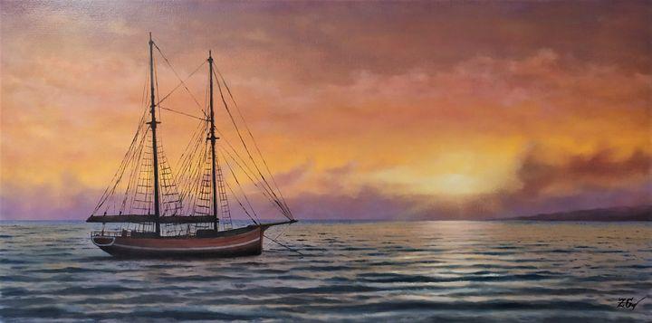 ''Vintage yacht in action.N.4.'' - Zigmars Grundmanis