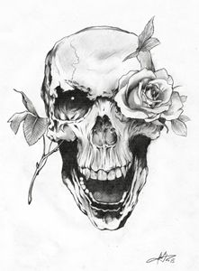 1501 - Skull and Rose