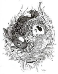 1506 - Yin Yang Koi Fish