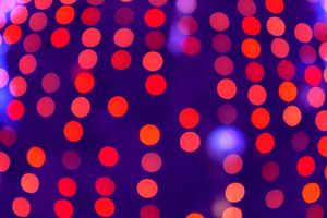 Blurred Indigo and Orange Lights