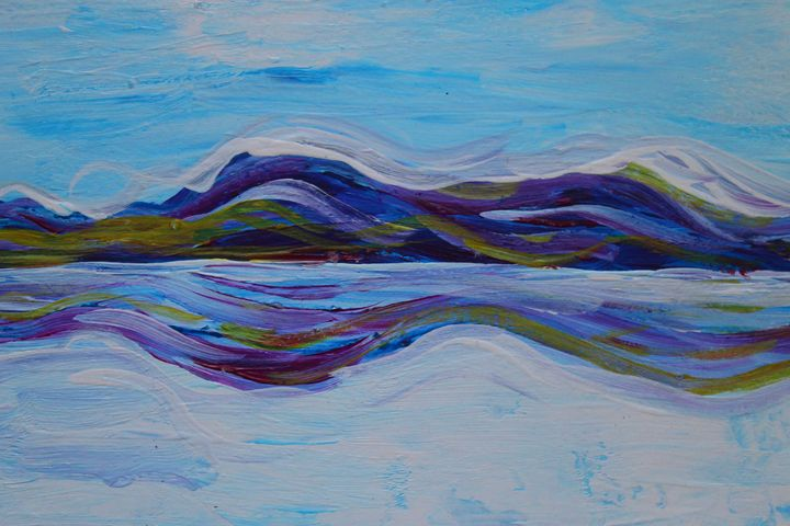 Abstract Landscape Salar I - Travels with my Art