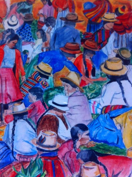 Market Day in Sucre, Bolivia. - Ali Dunnell Artist