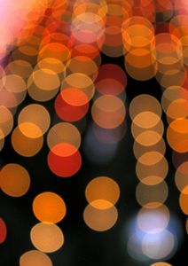 Blurred orange lights
