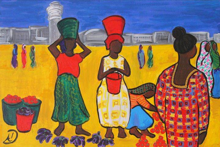 Street Market in Dar Es Salaam - Travels with my Art