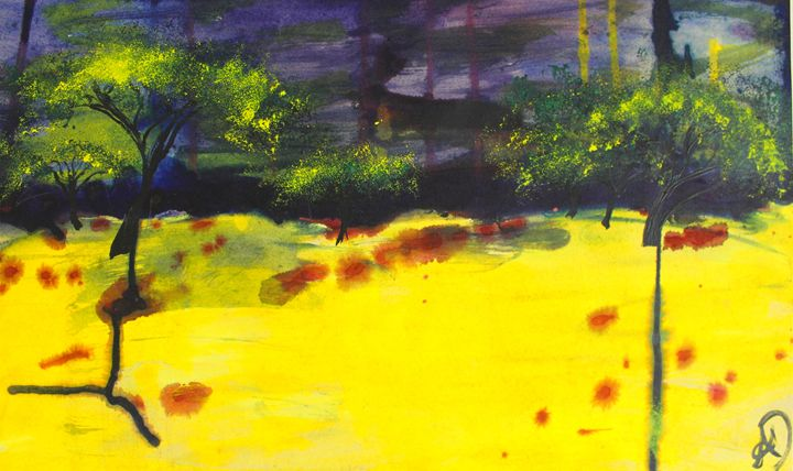 Endless Abstract Landscape - Ali Dunnell Artist