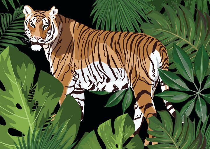 My Tiger P - PsA Arts & Crafts