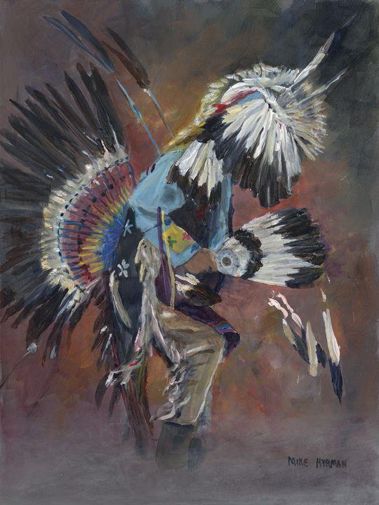 Traverse City Pow Wow - Mike Hyrman's Art