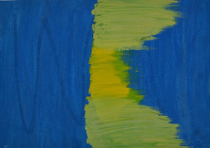 "Blue and Yellow - M&A Art Studio ,,Afrodite"""