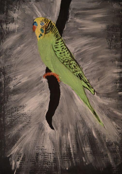 """Green Parrot - M&A Art Studio ,,Afrodite"""""""