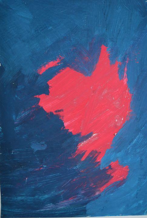 "Blue and Red - M&A Art Studio ,,Afrodite"""
