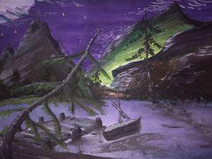 Midnight Lake Scape - Justin E. Stark