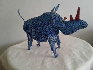Save the Rhino decor