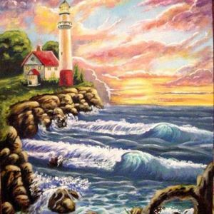 lighthouse sunset - Tripp Reynolds