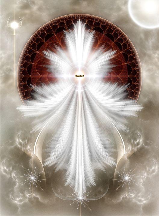 Angel Wings Snowflake Fractal Art - Xzendor7