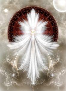 Angel Wings Snowflake Fractal Art