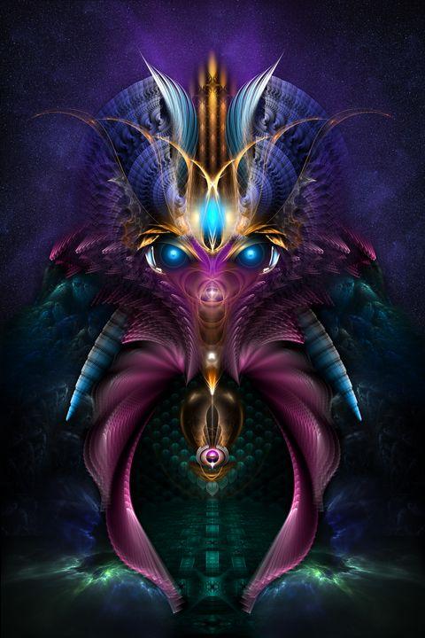 The Orkolon Fractal Alien Art - Xzendor7