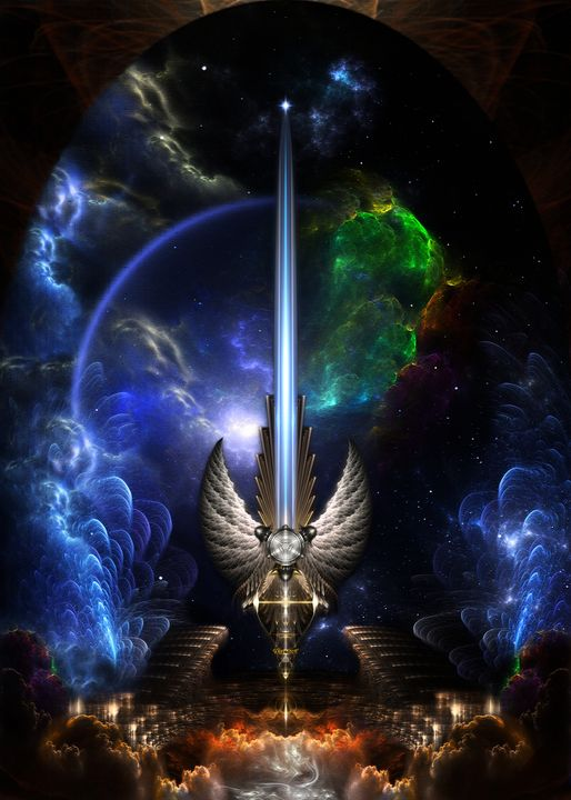 Angel Wing Sword Of Arkledious Space - Xzendor7