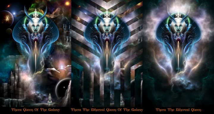 Thera Queen Trilogy Fractal Portrait - Xzendor7