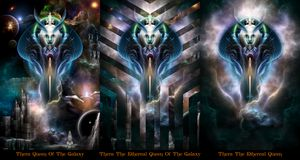 Thera Queen Trilogy Fractal Portrait