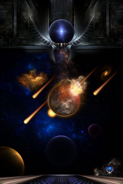 Asteroid Apocalypse Fractal Art - Xzendor7
