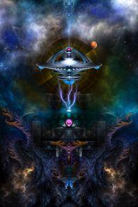 Space Station Ansarious Fractal Art