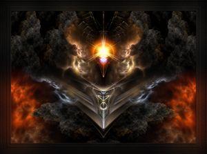 Light Of The Dragon Fractal Art
