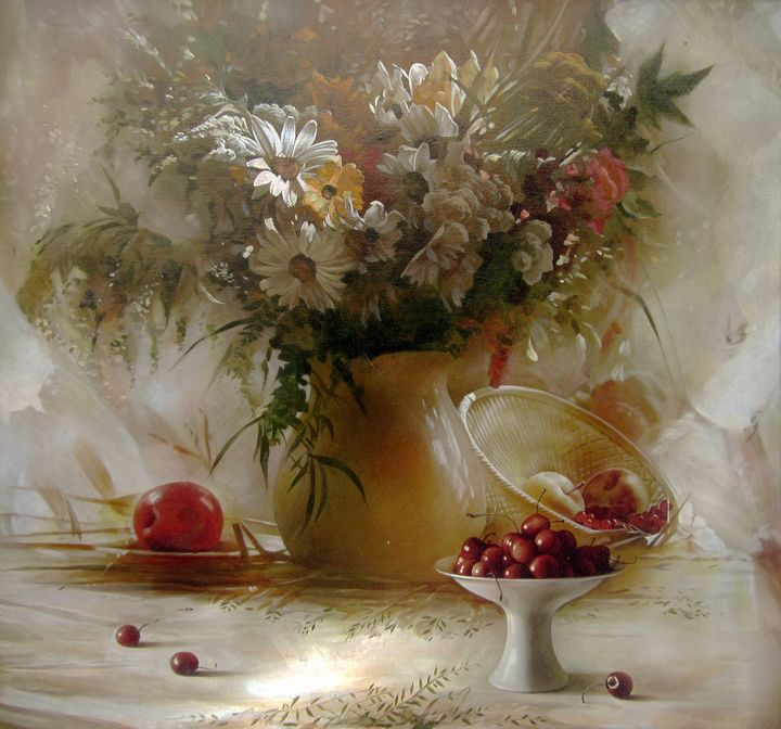 still life with sweet cherry - SergeyiVera