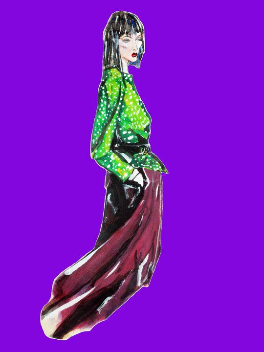 Fashion Illustration 1986 - Robert Shane Koralesky