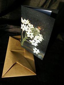 Ornithogalum greeting card