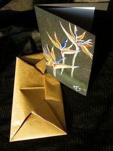 Strelitzia greeting card