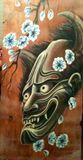 Hand-painted Hannya Mask