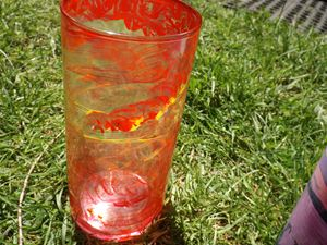 Fire In The Sky Candle Holder