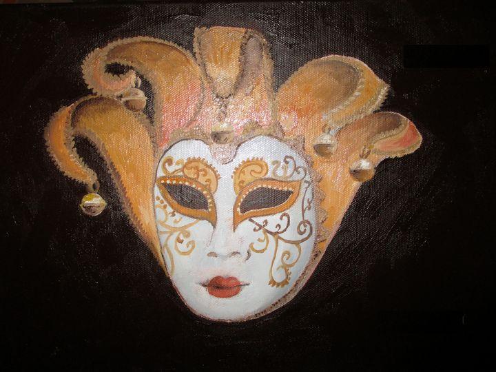 Venice carnival mask - Rainbow Box