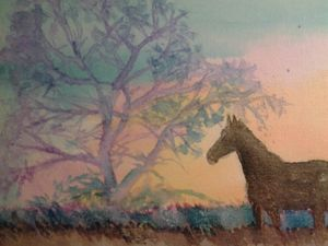 Distant horse