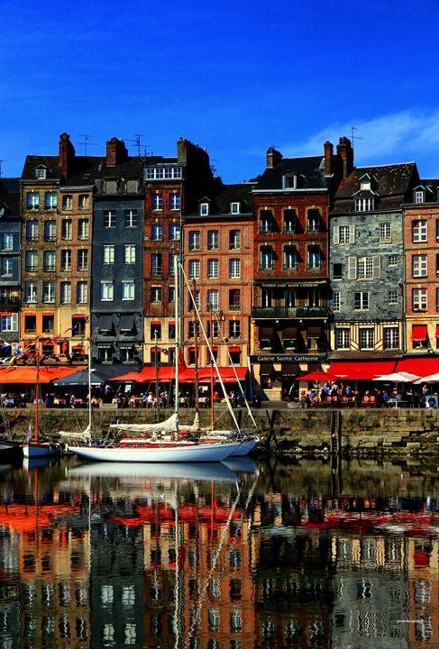 Reflections Honefleur France - tom prendergast fine art images