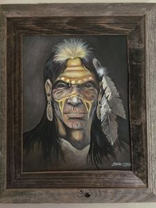 Native America Indian Oil Painting