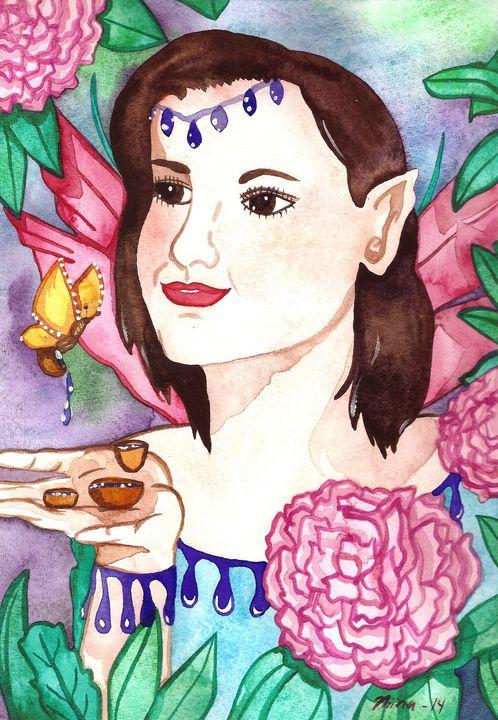 Fairy and Peonies - Fairychamber