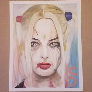 Harley Quinn Suicide Oil Painting