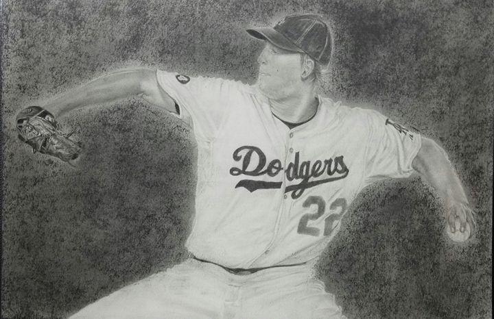 Dodgers Clayton Kershaw Cocking - Alejandro Olivares