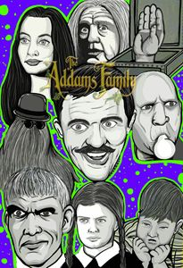 the addams family character collage