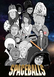 Spaceballs movie character collage