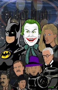 tim burton batman movie art