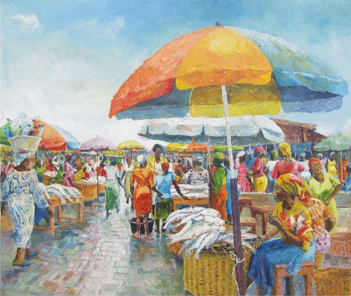 Fish Market at Makoko - Edward Bayem