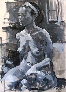 Nude female figure