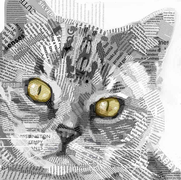 Silver Tabby Misty Cat - Prezzy.Art