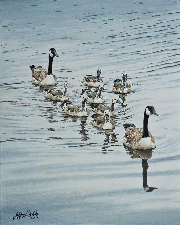 Swimming Lessons - Jeffrey R. White Fine Art
