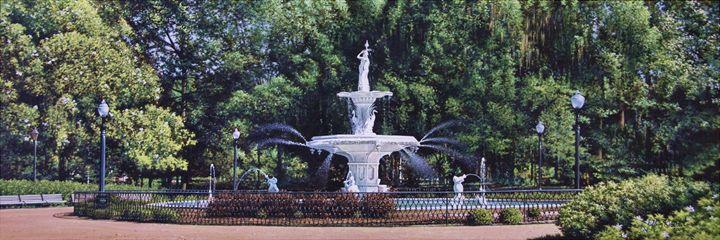 Forsyth Fountain - Jeffrey R. White Fine Art